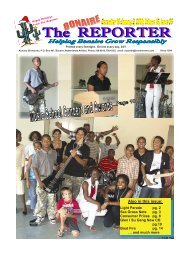 Also in this issue: - The Bonaire Reporter