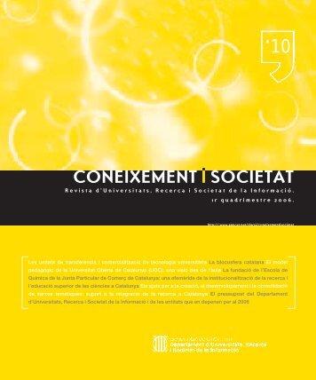 Coneixement i Societat núm. 10 - Generalitat de Catalunya