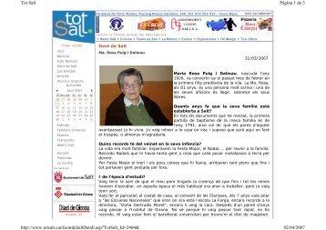 Gent de Salt: Ma. Rosa Puig i Dalmau - BiBGirona
