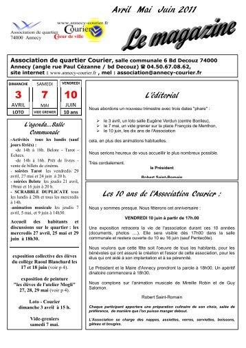 Avril Mai Juin 2011 - Association de quartier Courier