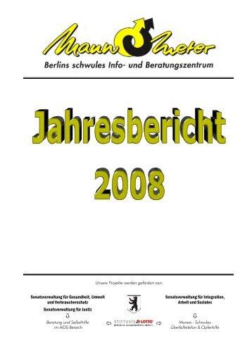 Jahresbericht 2008 - Mann-O-Meter