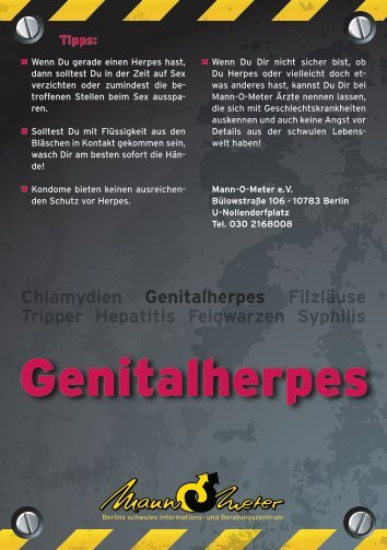 Genitalherpes - Mann-O-Meter