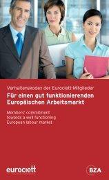 Verhaltenskodex der Eurociett-Mitglieder - Manpower