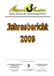 Jahresbericht 2009 - Mann-O-Meter