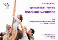 Top Intensive Training COACHING de EQUIPOS