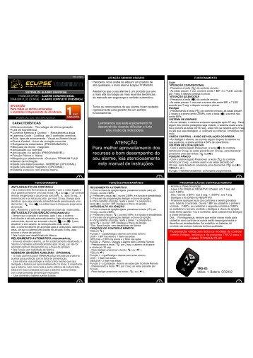 manual EP-MT-A - Eclipse Alarmes