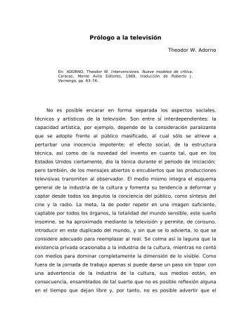 Adorno - SOCIOLOGANDO