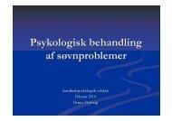 Psykologisk behandling af søvnproblemer - Dansk ...