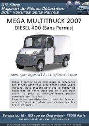 Mega Multitruck 2 Diesel 400 (Sans Permis) - Garage du 12