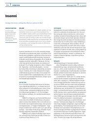 Insomni - Ugeskrift for Læger