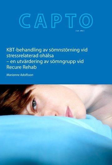 KBT-behandling av sömnstörning vid stressrelaterad ohälsa – en ...