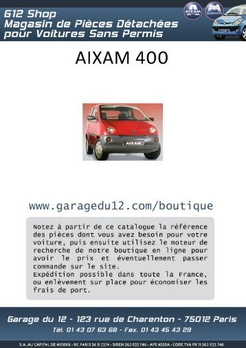 Aixam 400 - Garage du 12