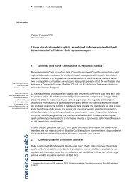 Libera circolazione dei capitali, scambio di ... - marenco-law.com