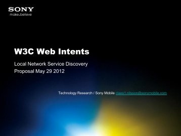 W3C Web Intents - Local Network Service Discovery