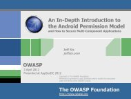 An In-Depth Introduction To The Android Permission - owasp