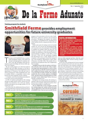 Smithfield Fermeprovides employment opportunities for future ...
