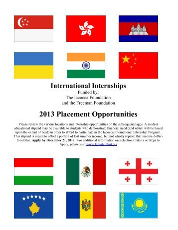 International Internships - Lehigh University