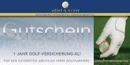 1 JAHR GOLF-VERSICHERUNG-XL! - adler & erber
