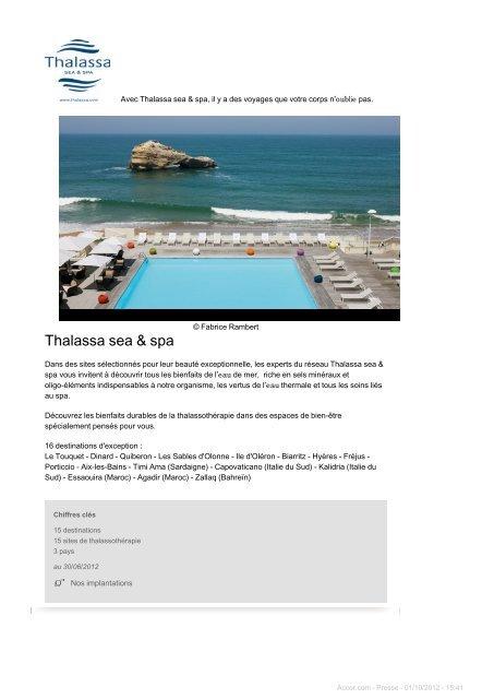 Thalassa sea & spa - Accor