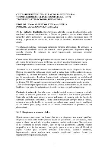 Cap.X Tromboembolismul pulmonar - Cardiologie.ro