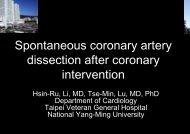 Spontaneous c dissection aft interve coronary ... - summitMD.com