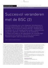 Succesvol veranderen met de BSC (2) - HHFinance
