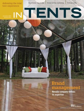 Delivering The Total tent Experience TENTS IN - InTents
