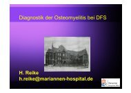 Diagnostik der Osteomyelitis bei DFS