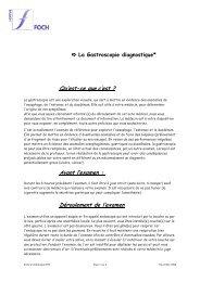 La gastroscopie diagnostique - Hôpital Foch