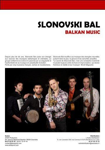 Slonovski Bal - Dossier de présentation ... - Rhône Alpes Arts