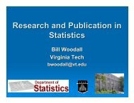 Research and Publication in Statistics - Filebox - Virginia Tech