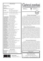 Medical Courier No. 5 (311), 2009 - Universitatea de Medicină şi ...