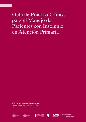 Guía de Práctica Clínica para el Manejo de Pacientes con Insomnio ...