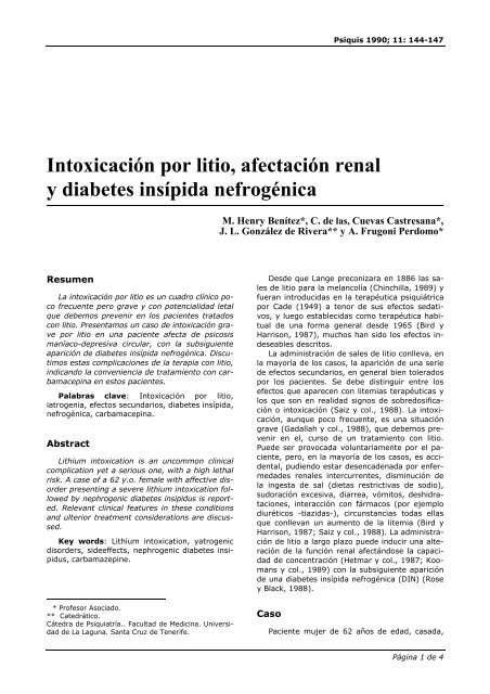 causas de la diabetes insipida nefrogenica