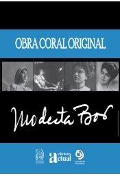 obra coral original de modesta bor - Dirección de Cultura ULA
