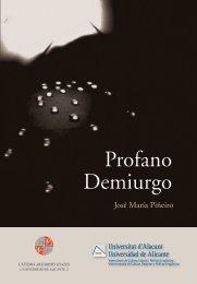 Profano Demiurgo - Ua - Universidad de Alicante