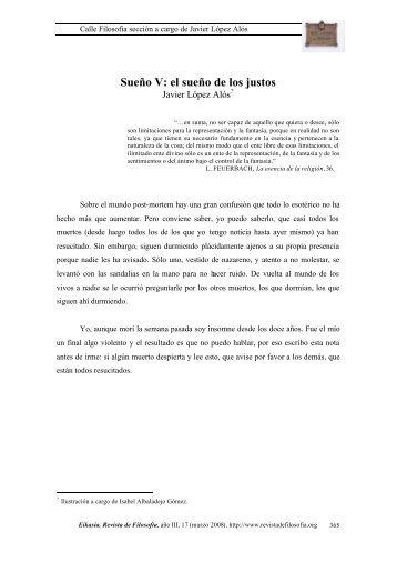 Sueño V: el sueño de los justos - EIKASIA - Revista de Filosofía