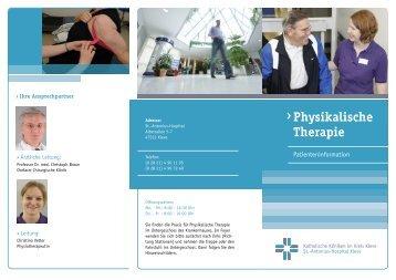 Physikalische Therapie ›