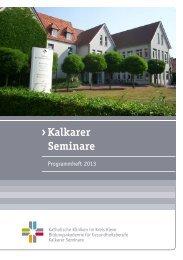 Kalkarer Seminare - Katholische Kliniken im Kreis Kleve