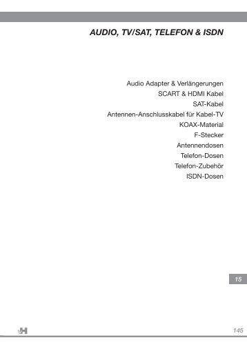 145 AUDIO, TV/SAT, TELEFON & ISDN - Adolf von Hagen