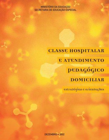 Classe hospitalar e atendimento pedagógico domiciliar