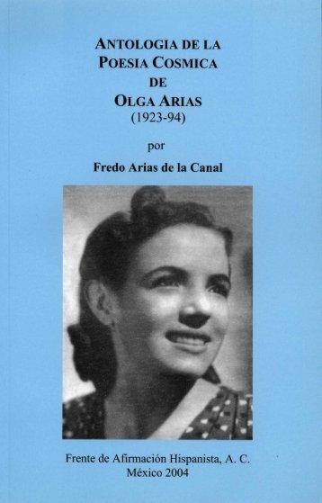 ANTOLOGIA DE LA POESIA COSMICA DE OLGA ARIAS - Frente de ...