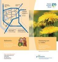 Einladungsflyer - Marien-Hospital Wesel