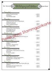Preise Stammgastkarte ohne - Marienkrankenhaus Soest