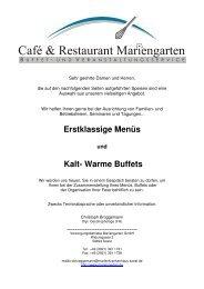Erstklassige Menüs Kalt- Warme Buffets - Marienkrankenhaus Soest