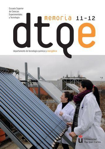 Memoria DTQE - Departamento de Tecnología Química y ...