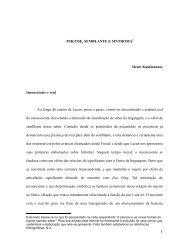 1 PSICOSE, SEMBLANTE E SINTHOMA Henri Kaufmanner ...