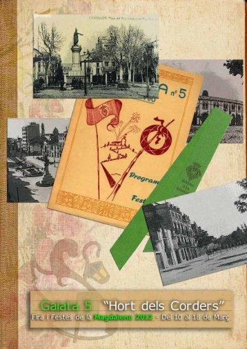 Llibret Magdalena 2012 (Part 1) - Gaiata 5 – Hort dels Corders