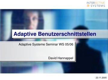Adaptive Benutzerschnittstellen - Modi-Art Internetwerbung