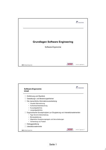 Grundlagen Software Engineering